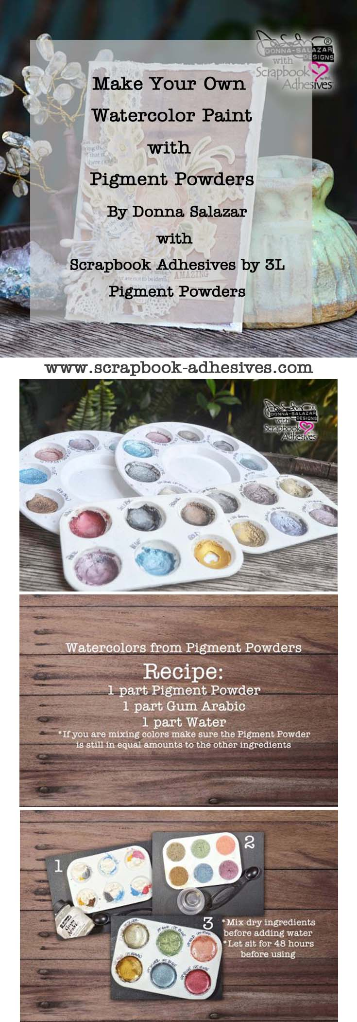 How to make Pigment Powder Watercolor paints