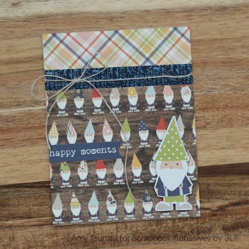 Happy Moments Card by Amy Tsuruta for Scrapbook Adhesives by 3L