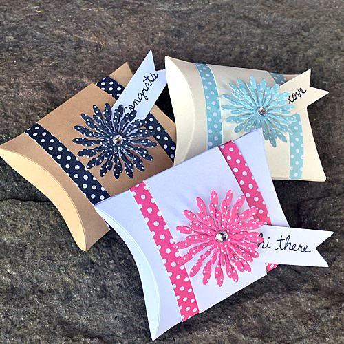 Pillow Box Trio by Christine Emberson for Scrapbook Adhesives by 3L w Lawn Fawn Blog Hop SEPT16