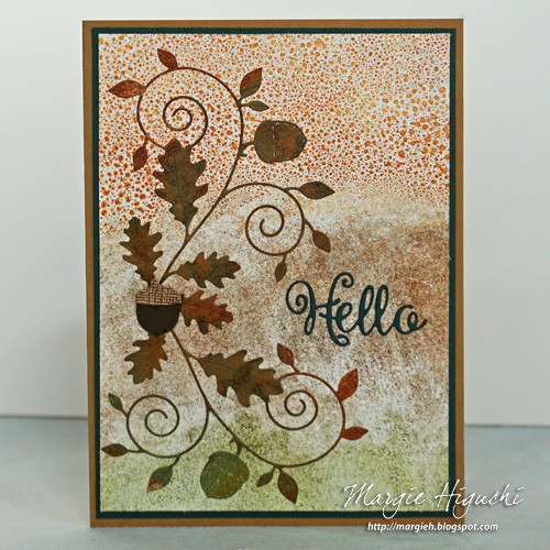 Autumn Hello Card Using Adhesive Sheet by Margie Higuchi for Scrapbook Adhesives by 3L