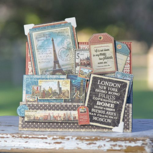 Travel Accordion Card by Beth Pingry for Scrapbook Adhesives by 3L w Graphic 45 BlogHop OCT16