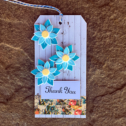 Floral Tag by Christine Emberson for Scrapbook Adhesives by 3L