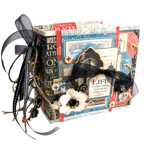 Travel Mini Album by Erica Houghton for Scrapbook Adhesives by 3L w Graphic 45 BlogHop OCT16