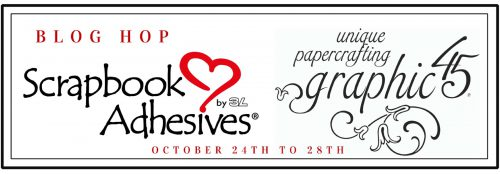 Scrapbook Adhesives by 3L and Graphic 45 Blog Hop OCT16 Logo