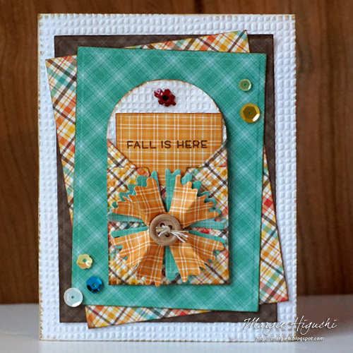 Fall is Here Card by Margie Higuchi for Scrapbook Adhesives by 3L