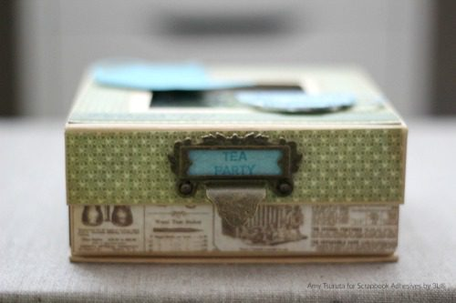 Tea Party Box by Amy Tsuruta for Scrapbook Adhesives by 3L w Graphic45 BlogHop OCT16