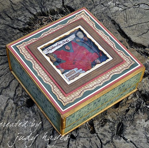 Shadow Nature Journey Box by Judy Hayes for Scrapbook Adhesives by 3L w Graphic45 BlogHop OCT16