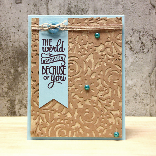 The World is Brighter Card by Tami Mayberry for Scrapbook Adhesives by 3L