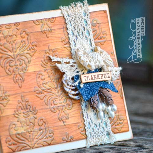 Thankful Card by Donna Salazar for Scrapbook Adhesives by 3L