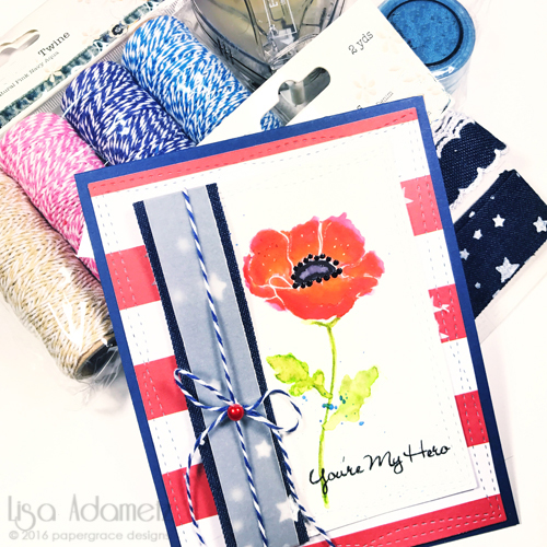 Veterans Day Hero Card Tutorial by Lisa Adametz for Scrapbook Adheives by 3L