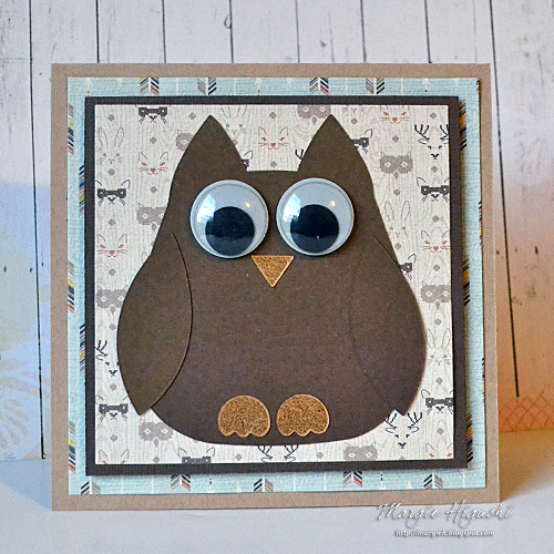 A Hoot of A Card by Margie Higuchi for Scrapbook Adhesives by 3L