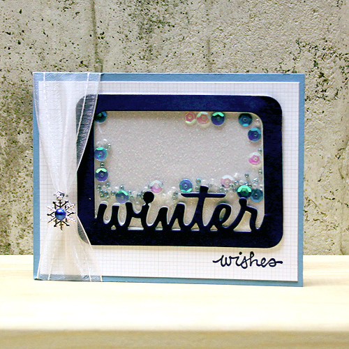 Winter Wishes Shaker Card by Tami Mayberry for Scrapbook Adhesives by 3L