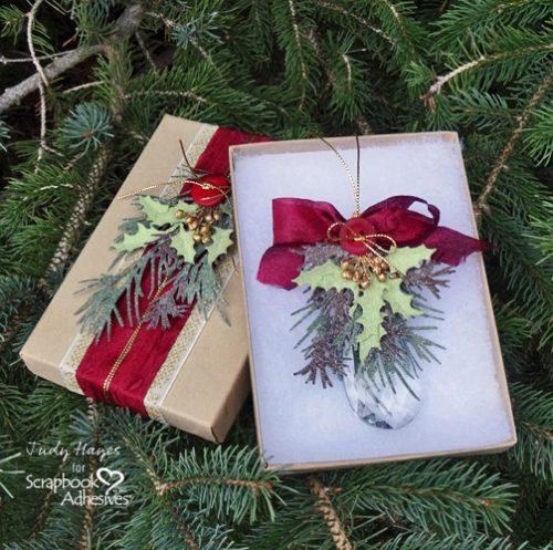 Holiday Crystal Ornament and Gift Box by Judy Hayes for Scrapbook Adhesives by 3L w Handmade Holiday Blog Hop NOV16