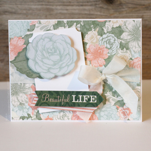 Beautiful Life Card by AJ Otto for Scrapbook Adhesives by 3L