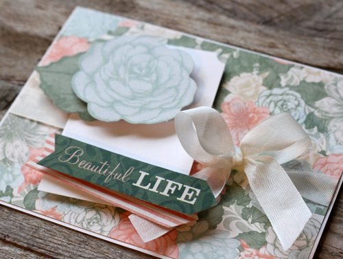Beautiful Life Card 2 by AJ Otto for Scrapbook Adhesives by 3L