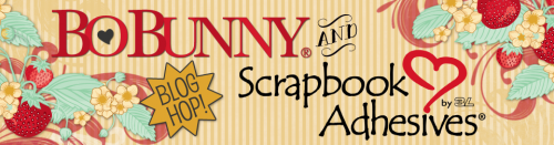 Scrapbook Adhesives & Bo Bunny Press Blog Hop Dec 2016 Logo