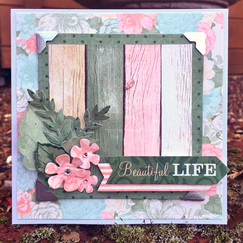Beautiful Life Card by Christine Emberson for Scrapbook Adhesives by 3L