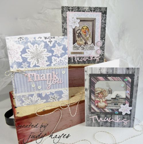 Winter Wishes Thank You Card by Judy Hayes