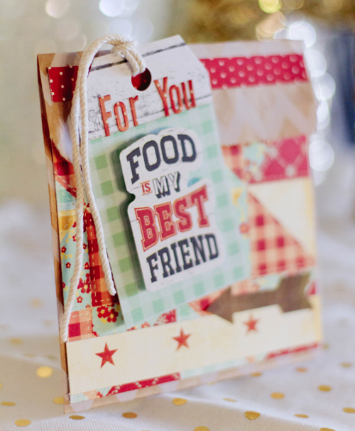 Kiss The Cook Treat Sack 2 by Latisha Yoast for Scrapbook Adhesives by 3L