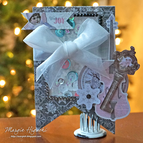 Winter Joy Shaker Tag by Margie Higuchi for Scrapbook Adhesives by 3L