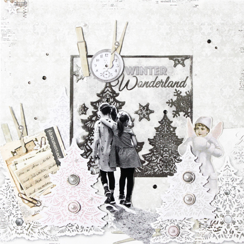 Winter Wonderland Page by Stephanie Schutze for Scrapbook Adhesives by 3L