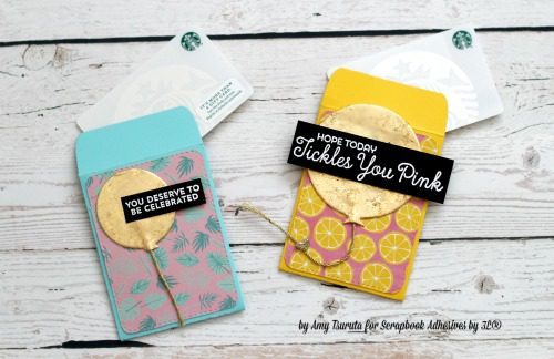 Celebrations Gift Card Holders Tutorial by Amy Tsutura for Scrapbook Adhesives by 3L