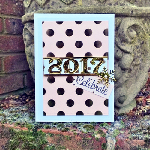 A Golden 2017 Card by Christine Emberson for Scrapbook Adhesives by 3L