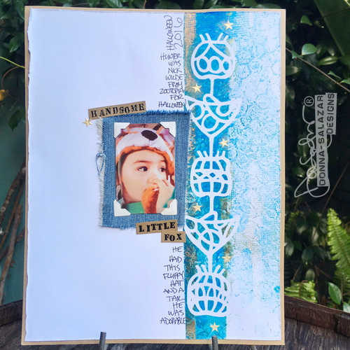 Little Fox Scrapbook Page by Donna Salazar for Scrapbook Adhesives by 3L