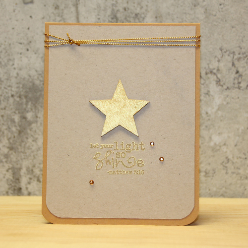 Gold Star Shine Card by Tami Mayberry for Scrapbook Adhesives by 3L