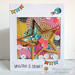 Youre A Star Shaker Card by Margie Higuchi for Scrapbook Adhesives by 3L