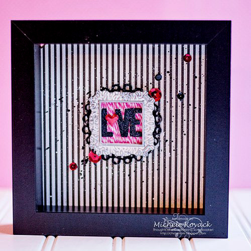 Valentines Shadow Box by Michele Kovack for Scrapbook Adhesives by 3L