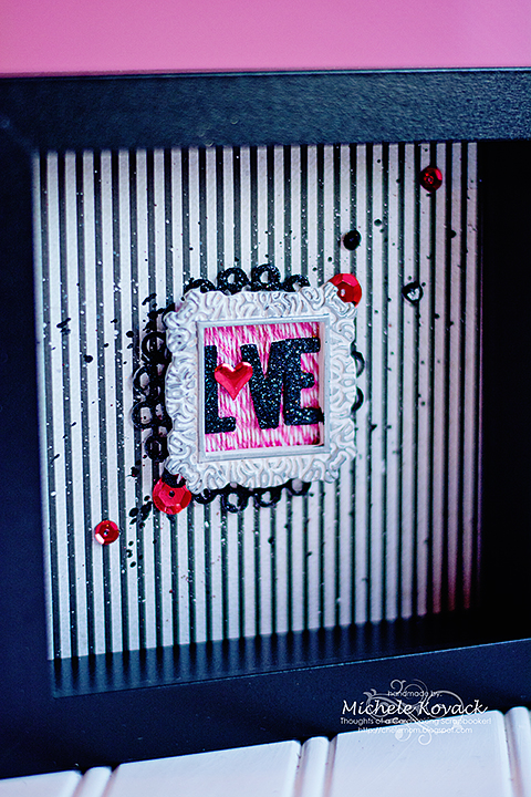 How to Create a Valentine Shadow Box Close Up by Michele Kovack for Scrapbook Adhesives by 3L