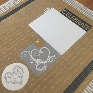 Wedding Layout with E-Z Runner Grand by Erica Houghton for Scrapbook Adhesives by 3L