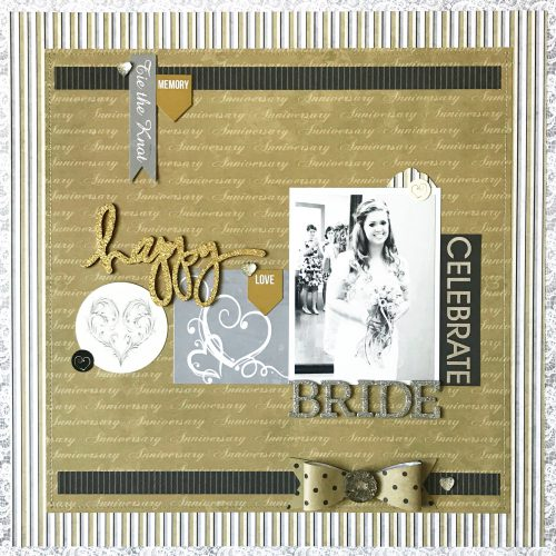 Happy Bride Wedding Layout by Erica Houghton