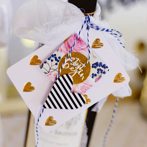 Wine Bottle Tag by Latisha Yoast for Scrapbook Adhesives by 3L