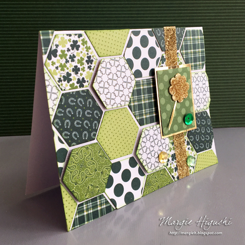 Dimensional Hexie Shamrock Card 2 by Margie Higuchi for Scrapbook Adhesives by 3L