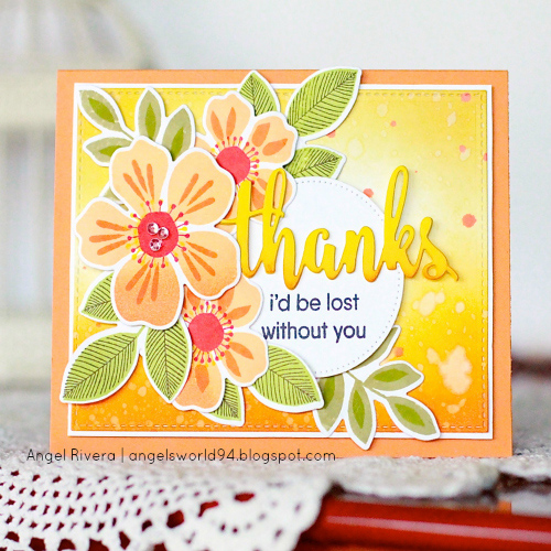 Dimensional Thank You Card by Angel Rivera for Scrapbook Adhesives by 3L