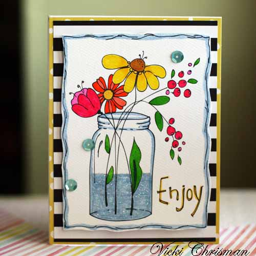 Enjoy card with flower seeds