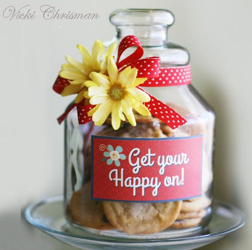 Get your happy on cookie jar