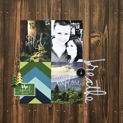Breathe Scrapbook Pg by Erica Houghton for Scrapbook Adhesives by 3L
