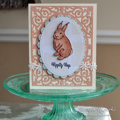 Creating Dimensional Hippity Hop Easter Card by Margie Higuchi for Scrapbook Adhesives by 3L