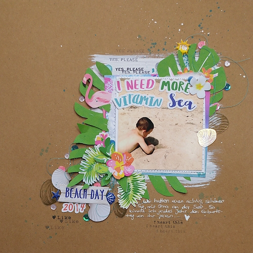 Need More Vitamin Sea Scrapbook Page by Jana McCarthy for Scrapbook Adhesives by 3L/PHP BHop17
