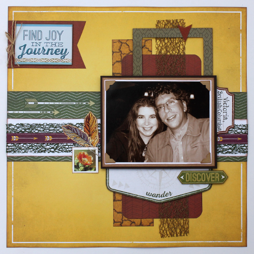 Find Joy in Journey Scrapbook Pg by Tracy McLennon for Scrapbook Adhesives by 3L/PHP BHop17