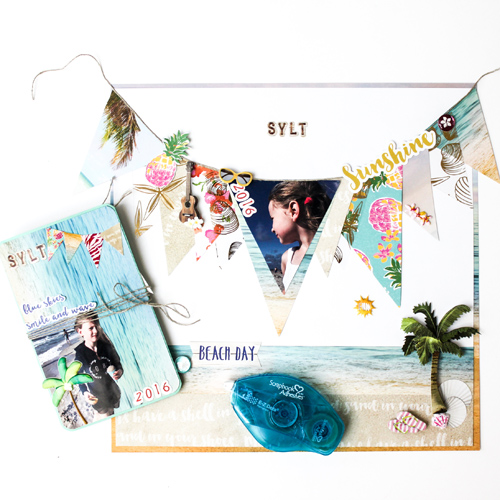 Sylt Scrapbook Page n Mini Album by Stephanie Schutze for Scrapbook Adhesives by 3L/PHP BHop