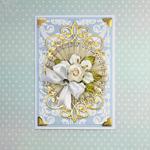 Romantic Wedding Rosette Card Tutorial by Yvonne Van de Grijp
