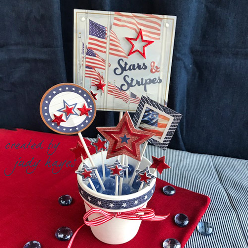 Stars and Stripes Centerpiece by Judy Hayes for Scrapbook Adhesives by 3L/Pape House Blog Hop day 5