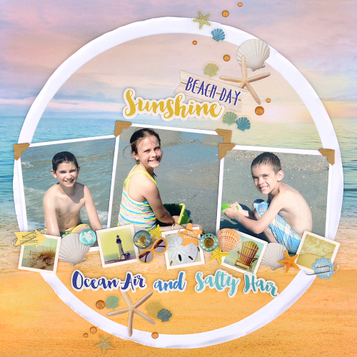 Beach Day crapbook Layout & Tutorial by Christine  Meyer for Scrapbook Adhesives by 3L