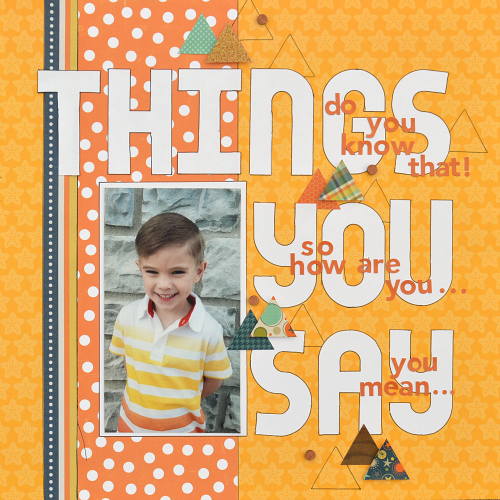 Little Boy Scrapbook Layout for Scrapbook Adhesives by 3L using E-Z Runner Grand and 3D Foam Squares