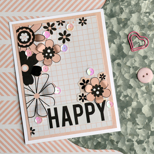 Happy Card for a wedding or other happy occasion feauring adhesives from Scrapbook Adhesives by 3L
