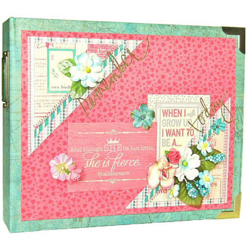 Darling Girl Mini Album by Erica Houghton for Scrapbook Adhesives by 3L